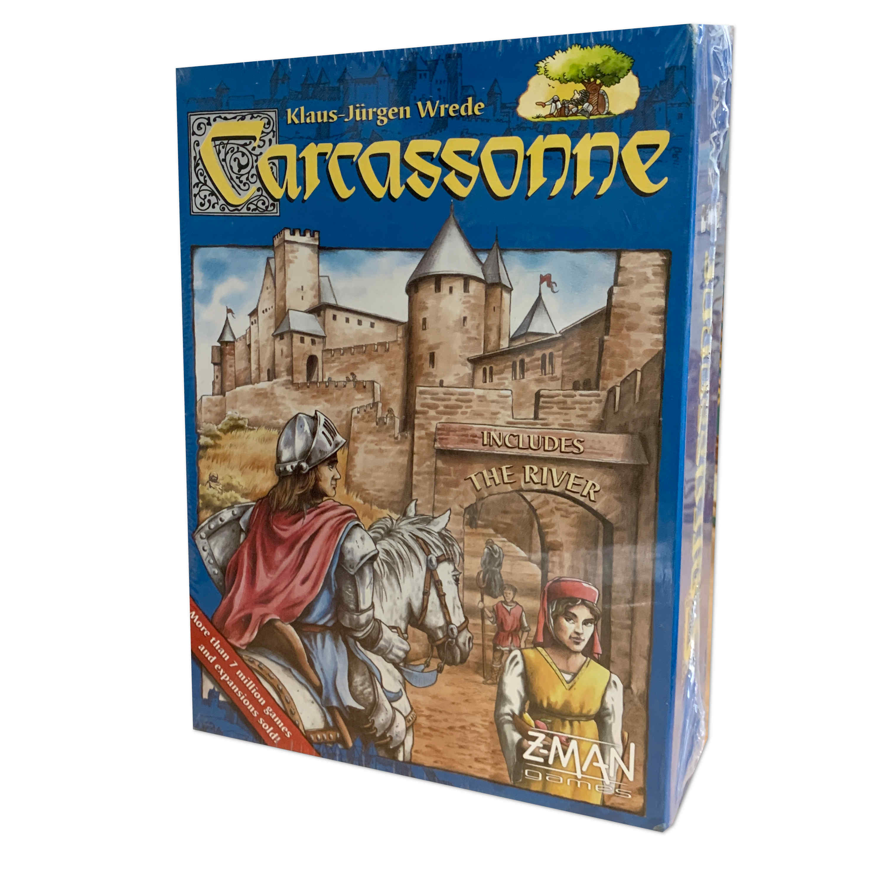 Z-Man Games Carcassonne New Edition Board Game Double the fun with 71 more tiles
