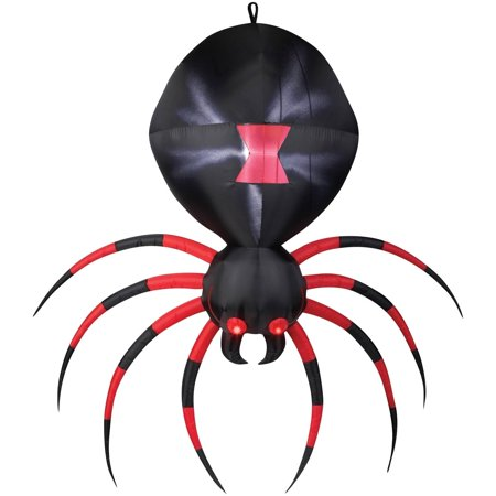 Black Spider Airblown Halloween Decoration
