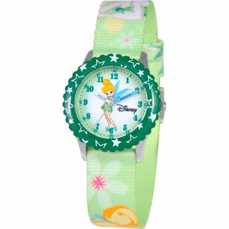 Disney Tinker Bell Girls' Stainless Steel Watch, Green