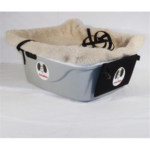 1 Seater Dog Car Seat Finish: Gray, Harness Size: Medium, Lining Color: Sherpa Beige