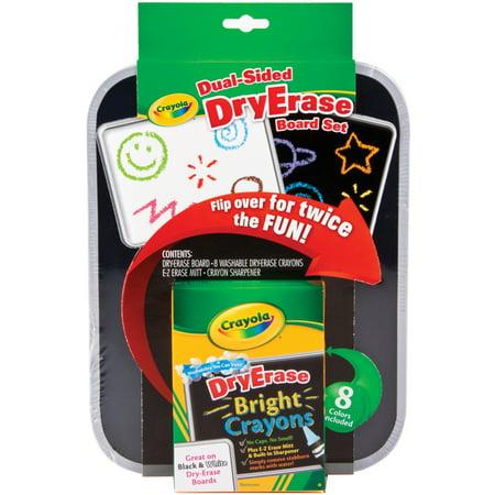 Crayola Dual-Sided Dry Erase Crayons Board Set