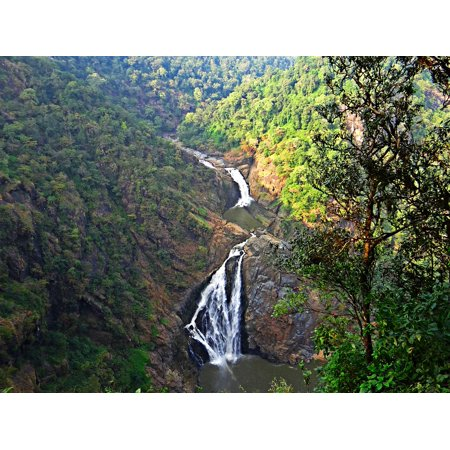 LAMINATED POSTER Magod Falls Water Fall Western Ghats Cascades Poster Print 11 x -