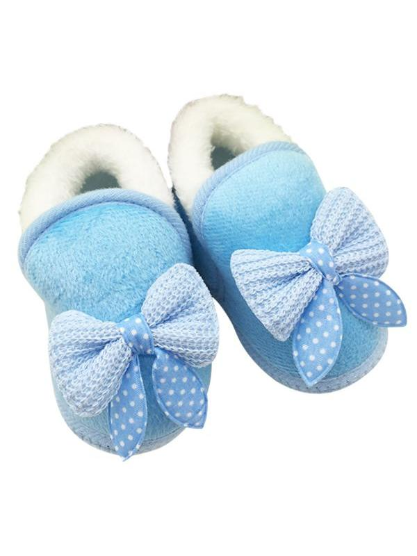 Nicesee Winter Warm Baby Girls Non Slip Bowknot Snow Boots