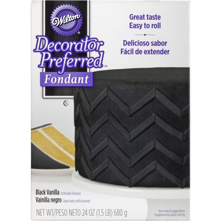 Wilton Decorator Preferred Fondant, Black, 24 oz.