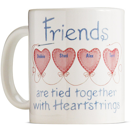 Personalized Friends Heartstring Coffee Mug, 15oz