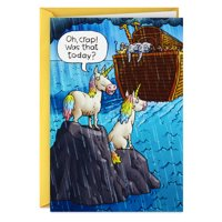 Hallmark Shoebox Funny Birthday Card (Noah's Ark Unicorns)