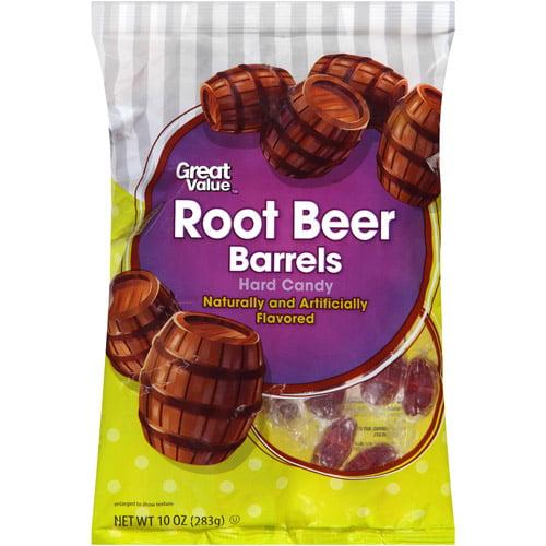 Great Value Root Beer Barrels Hard Candy, 10 oz