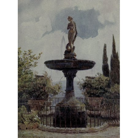Lamias Winter Quarters 1907 A Noble Fountain Poster Print By  George S Elgood