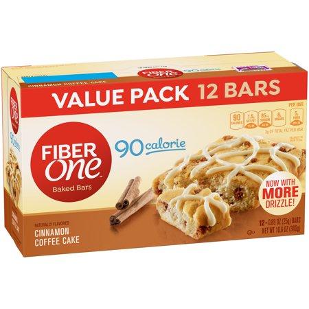 Fiber One 90 Calorie Bar Cinnamon Coffee Cake Value Pack 12   0 89 Oz Bars