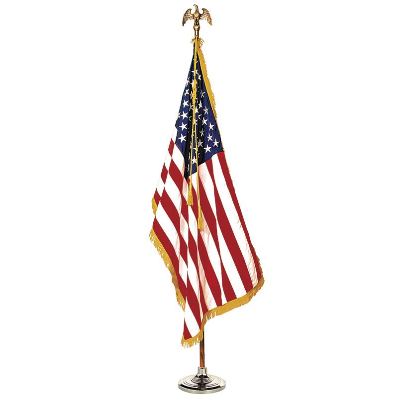 Annin & Co. COMPLETE MOUNTED US FLAG SET 3X5 8 FT POLE