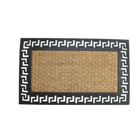 Door Decorate (Doormat Outside, Geometric Border Outdoor Decorative 18x30 Coir)