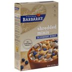 ***Discontinue***Barbara's Blueberry Burst Shredded Minis Cereal, 13 oz (Pack of 6)