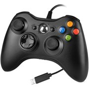 LUXMO Wired Xbox 360 Controller for Xbox 360 and Windows PC (Windows 10/8.1/8/7)
