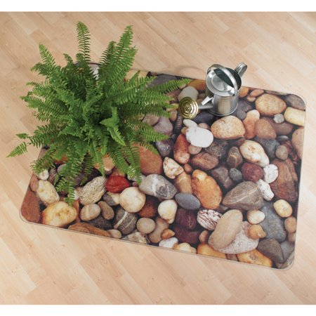 Floortex Colortex Photo Ultimat Rectangular General Purpose Mat For Hard Floors   Low Pile Carpets Size  36  X 48   Pebbles Design
