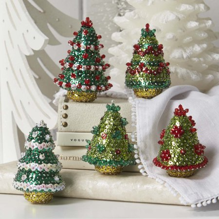 Sunrise Craft & Hobby™ Festive Holiday Trees Sit Set Ornament Kit - Easy Holiday Crafts