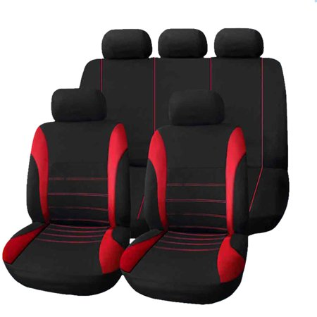 Cadillac Sedan Deville Set - T21620 Universal Car Seat Covesr 9 Set Full Seat Covers for Crossovers Sedans