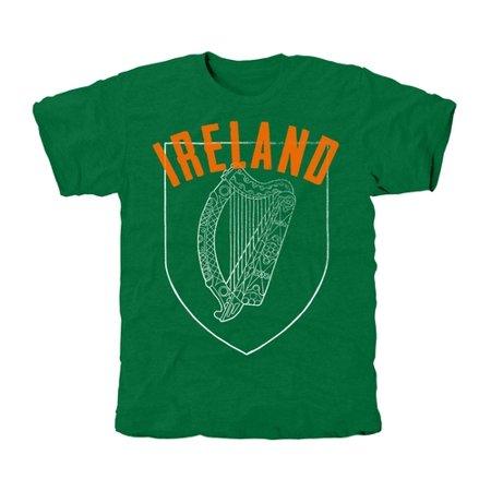 Ireland Coat Of Arms Tri-Blend T-Shirt - Green