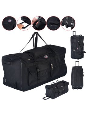 141b349288d8 Product Image Costway 36   Rolling Wheeled Tote Duffle Bag Luggage Travel  Duffle Suitcase Black