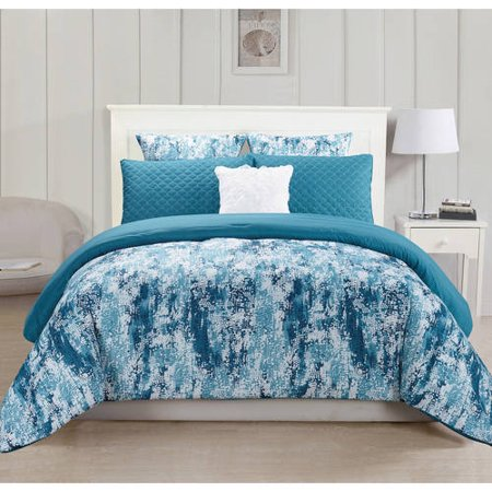 Staas 6 Piece Oversize & Overfilled Queen Comforter Set in Grey (Cool Queen Comforter Set)