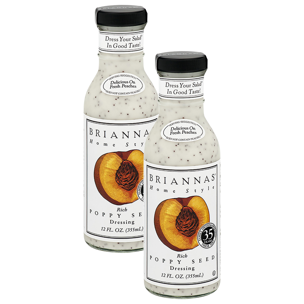 Briannas Home Style Dressing Rich Poppy Seed, 12.0 Fl Oz (2 Pack)