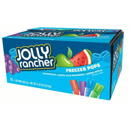 Jolly Rancher Freezer Pops, Assorted Flavors, 1 Fl Oz, 70 - Blue Raspberry Jolly Ranchers