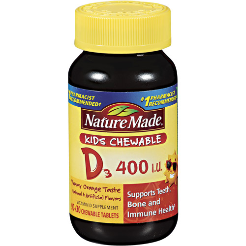 Nature Made Kids Chewable D3 120ct