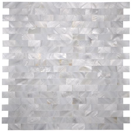 Ceramic Tile Kitchen Backsplashes (Mother of Pearl White Shell Mosaic Tile for Kitchen Backsplashes, Bathroom Walls, Spas, Pools, 12