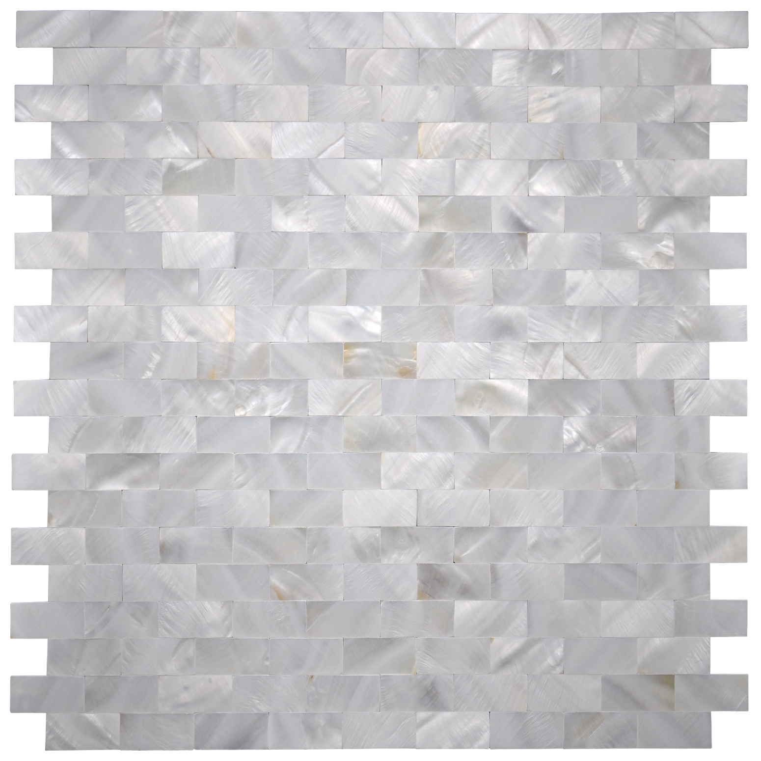"""Mother of Pearl White Shell Mosaic Tile for Kitchen Backsplashes, Bathroom Walls, Spas, Pools, 12"""" x 12"""" Seamless(6 Pack)"""