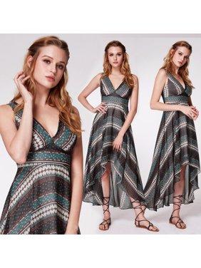 e3540ebdf2 Product Image Alisa Pan Women's Sexy High Low Printed Boho Maxi Dress Summer  Vacation Beach Sun Dresses for