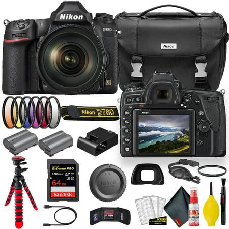 Nikon D780 24.5 MP Full Frame DSLR Camera with 24-120mm Lens Bundle
