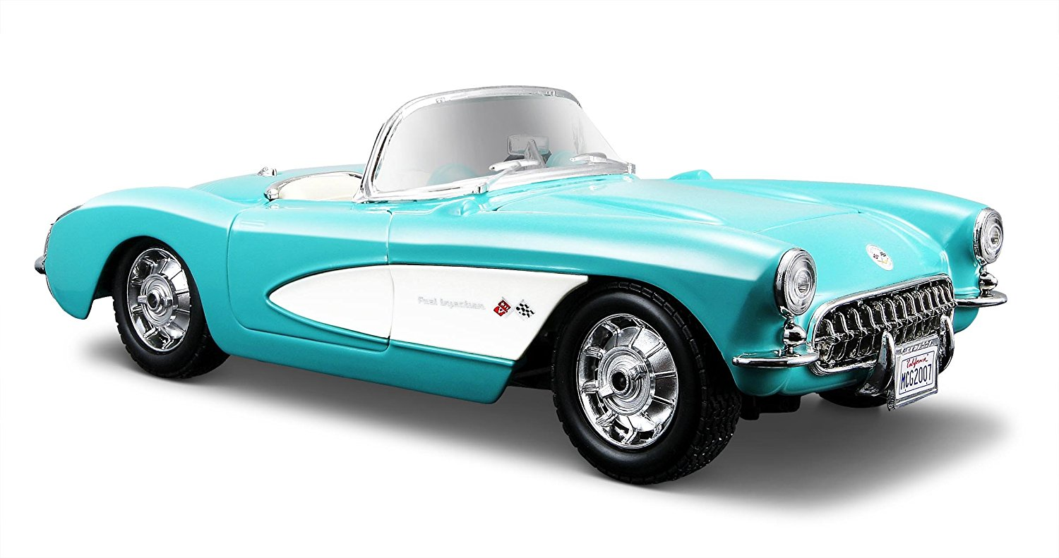 1:24 Scale Turqouise 1957 Chevrolet Corvette Diecast Vehicle, Scaled replicas of cars and... by