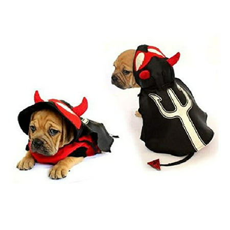 Devil Dog Costumes (Dog Costume DEVIL COSTUMES Dress Your Dogs Puppy Red Devils Satan(Size)