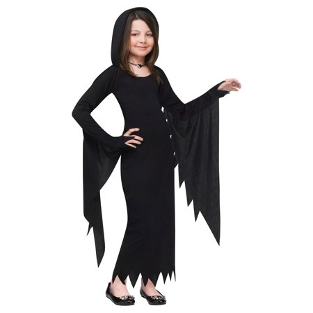 Child Hooded Gown Vampire Halloween Costume - Little Girl Vampire Halloween Makeup