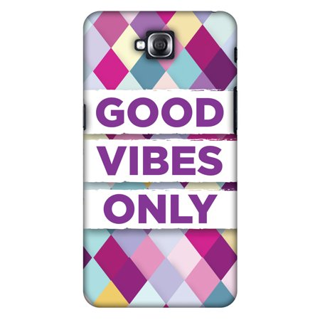 LG G Pro Lite D686 Case - Good Vibes Only, Hard Plastic Back Cover  Slim  Profile Cute Printed Designer Snap on Case with Screen Cleaning Kit