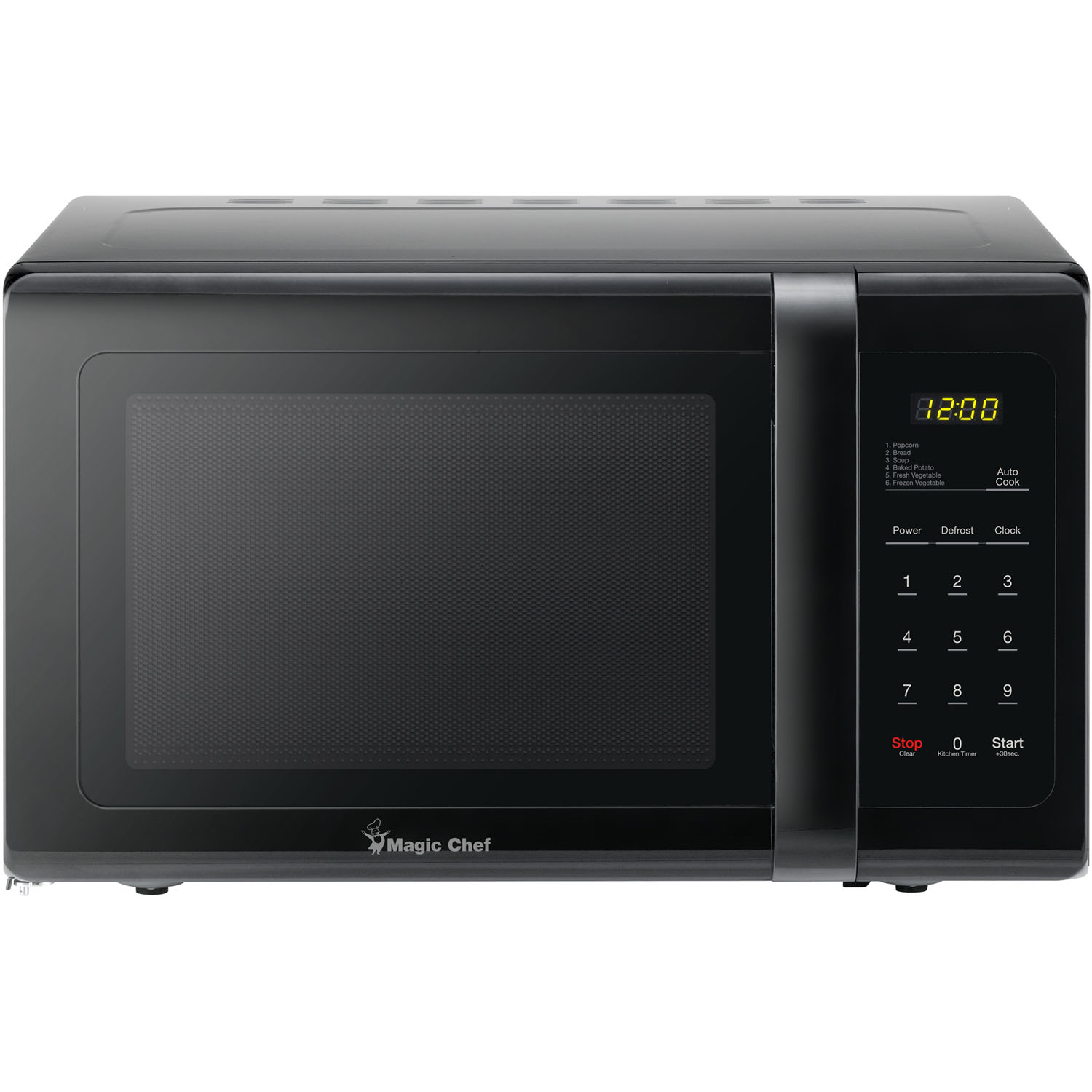 Magic Chef 0.9 Cu. Ft. 900W Countertop Microwave Oven in Black