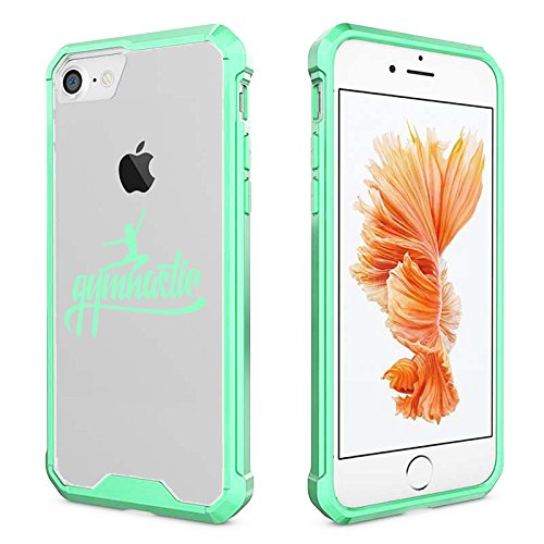 For Apple iPhone Clear Shockproof Bumper Case Hard Cover Gymnastic Calligraphy (Mint For iPhone 8)