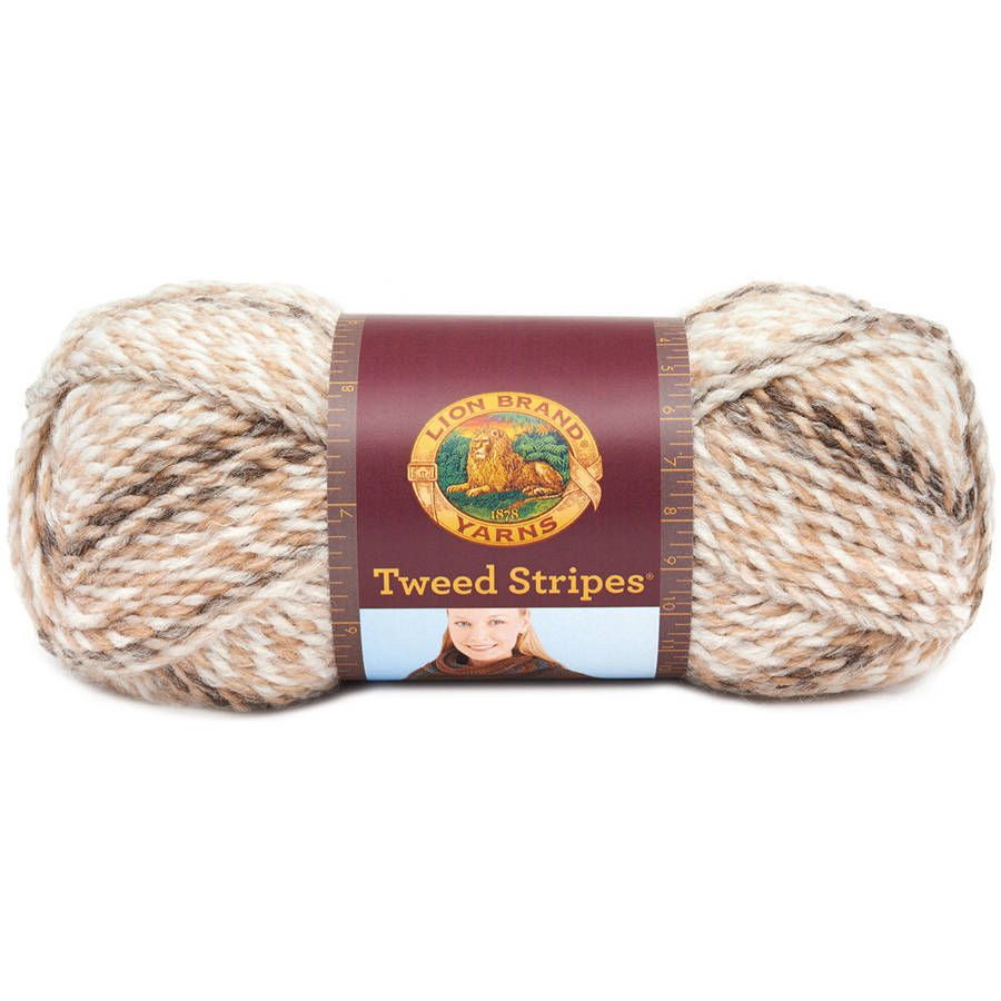 Lion Brand Tweed Stripes Yarn, Available in Multiple Colors