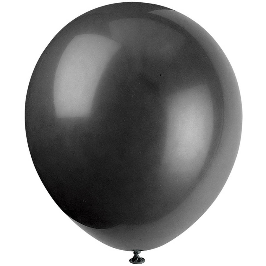 Latex Balloons, 12 in, Black, 10ct