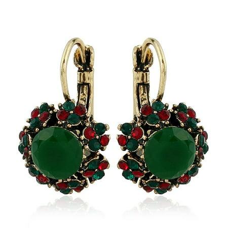 Colorful Crystal Stud Earrings Resin Dangle Earrings Personality Stud Earrings - image 1 of 5
