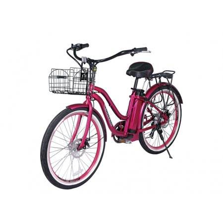 x treme malibu beach cruiser electric bike pink. Black Bedroom Furniture Sets. Home Design Ideas