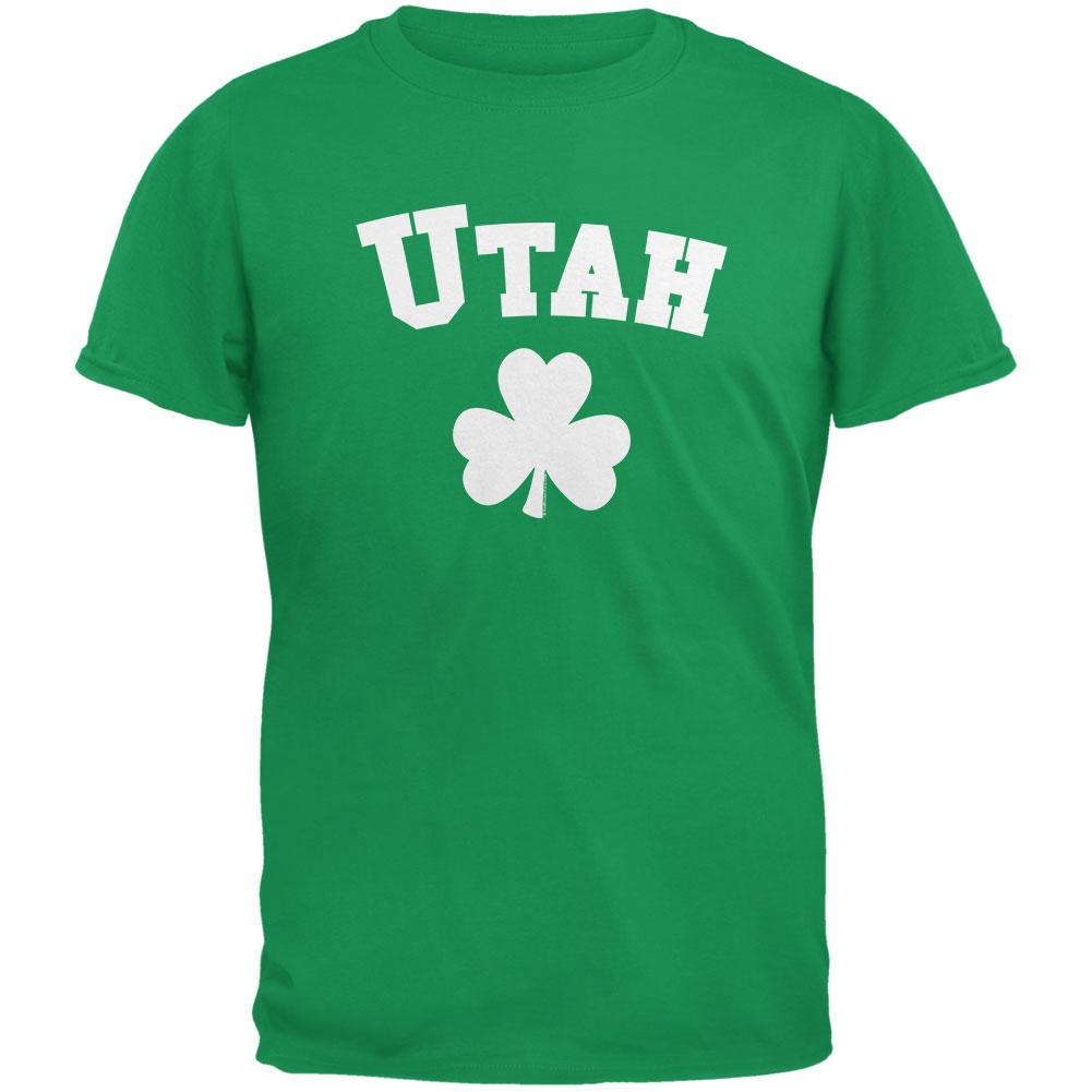 St. Patrick's Day - Utah Shamrock Irish Green Adult T-Shirt