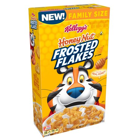 (2 pack) Kellogg's Frosted Flakes Honey Nut Breakfast Cereal 24.5 Oz