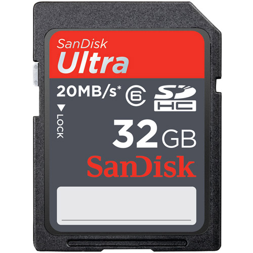 Sandisk Ultra 32GB SDHC Card (Class 10