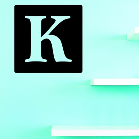 Custom Decals Alphabet Letter K Wall Art Size 18 X 18 Inches Color Mul