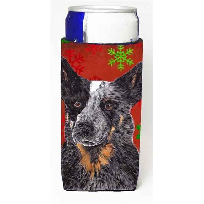 Carolines Treasures SC9436MUK Australian Cattle Dog Red Green Snowflakes Christmas Michelob Ultra s For Slim Cans - 12 oz. - image 1 of 1