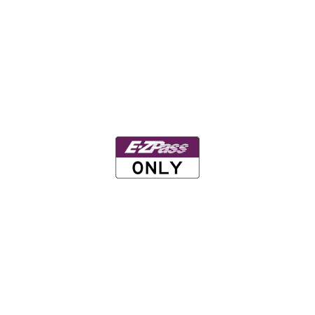 Traffic Signs - New Jersey Turnpike E-ZPass toll booth sign 12 x 18 Peel-n-Stick Sign Street Weather Approved Sign](Kissing Booth Sign)