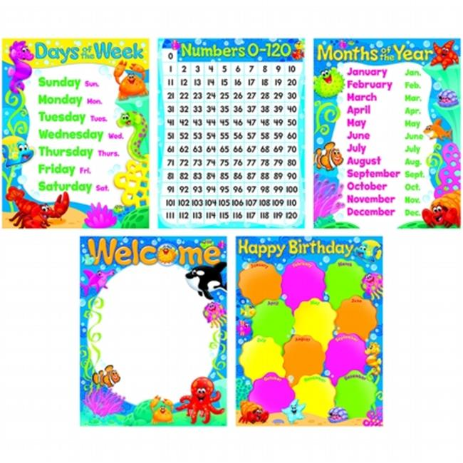 Classroom Basics Sea Buddies Learning Charts Combo Pack