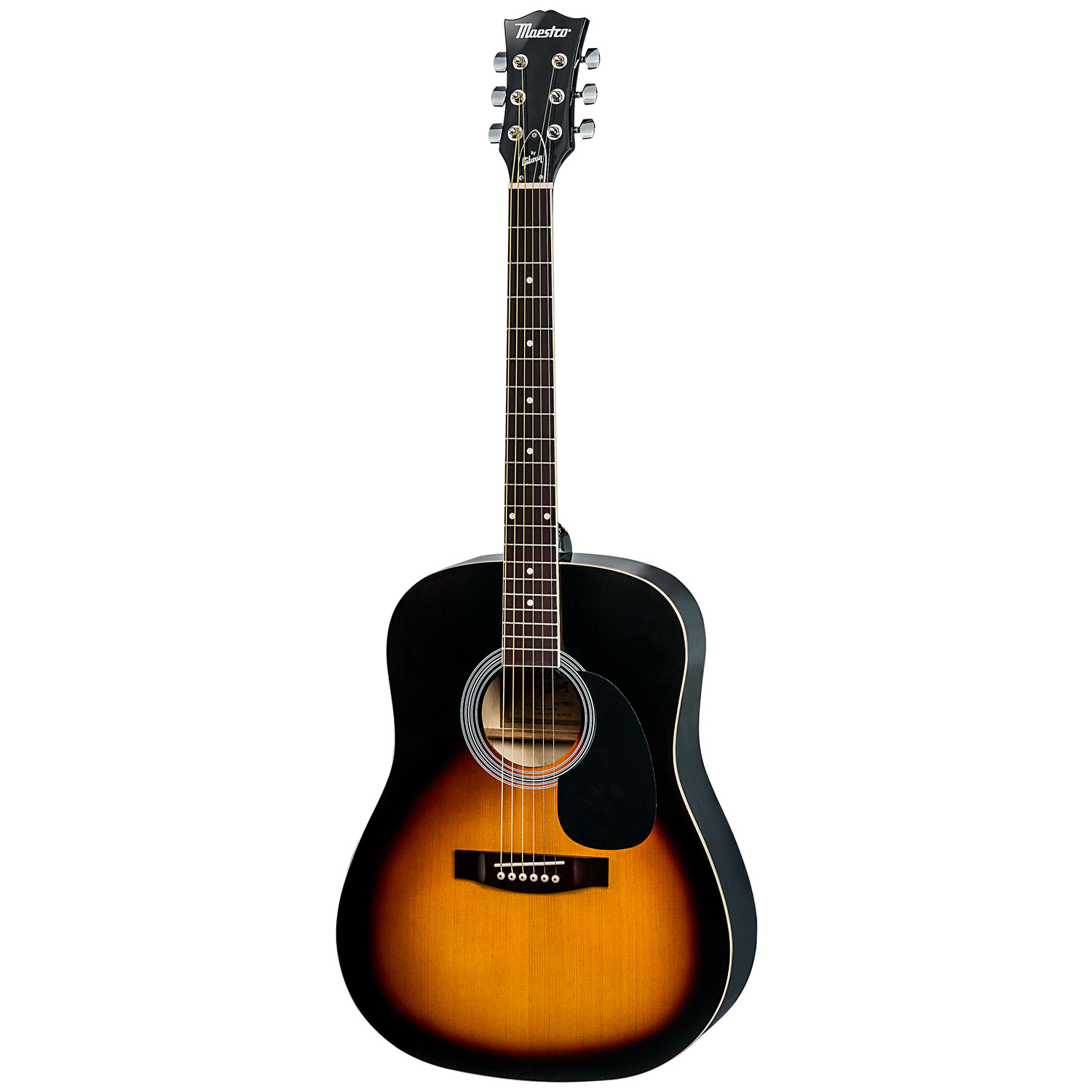 """maestro by gibson ma41bkch 41"""" full size acoustic guitar kit"""