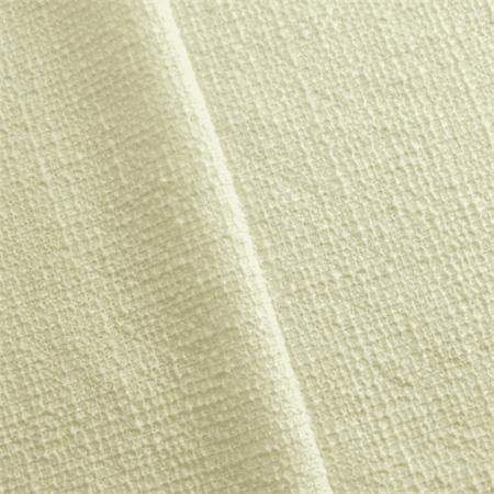 (Ivory Wool Blend Grid Jacketing, Fabric By the Yard)