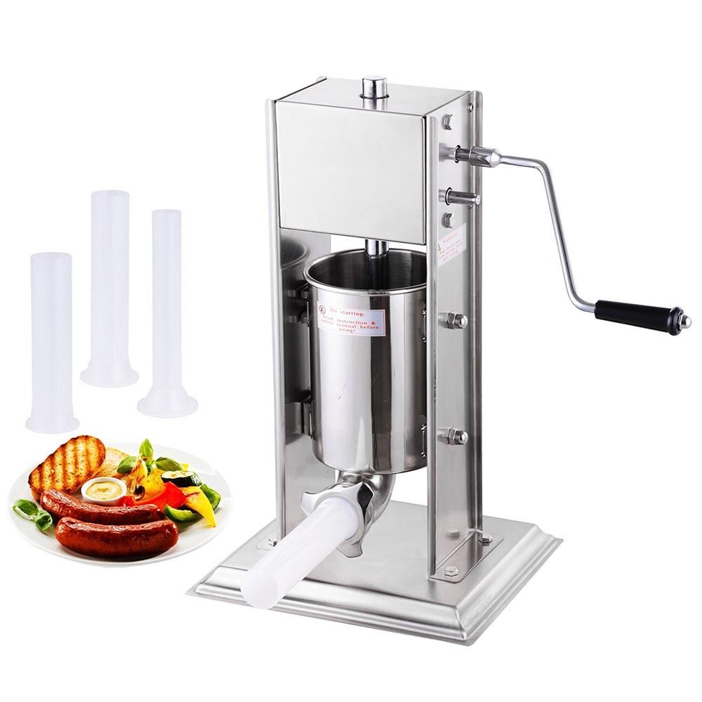 GHP 3L/8Lbs Stainless Steel 2-Speed Manual Sausage Stuffe...